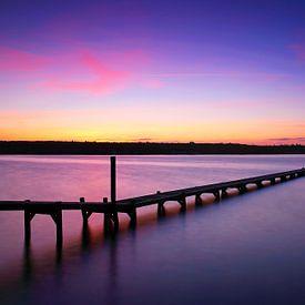 Lange steiger in de zonsondergang van Frank Herrmann