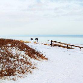 Schnee an der Ostsee von Petra Dreiling-Schewe
