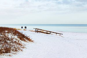Sneeuw aan de Oostzee