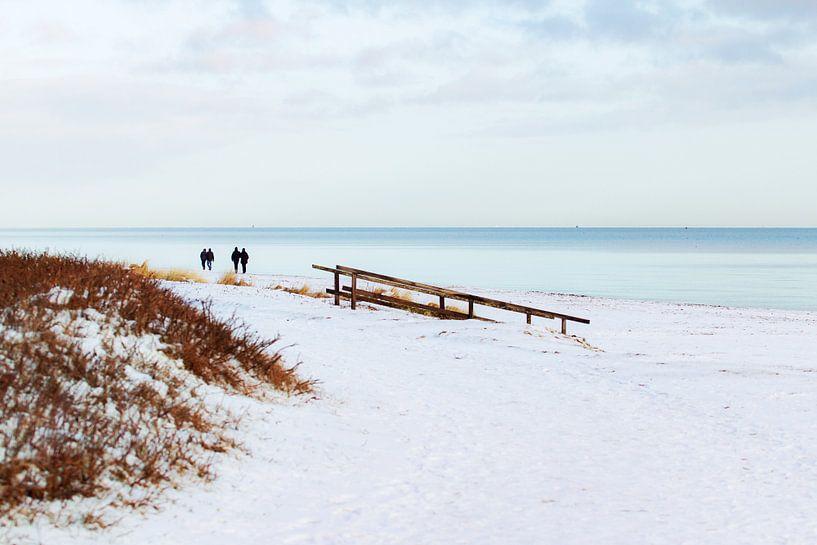 Sneeuw aan de Oostzee van Petra Dreiling-Schewe