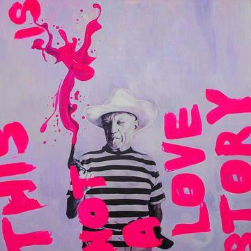 Motiv Pablo Picasso - Overdosis RED von Felix von Altersheim