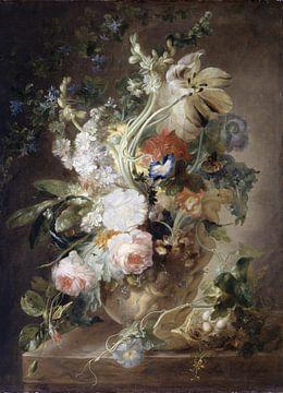 Vase avec des fleurs, suivi de Jan van Huysum