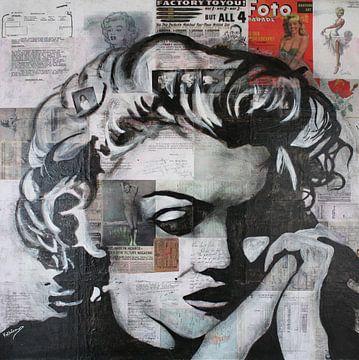 "Marilyn MONROE ""Memory"" van Kathleen Artist van Kathleen Artist Fine Art"