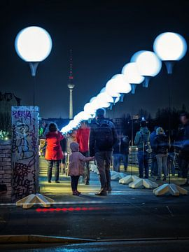 Berlin – Schwedter Steg / Lichtgrenze van Alexander Voss