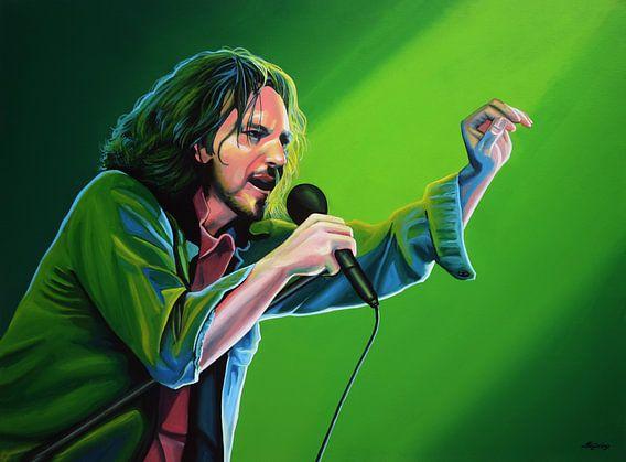 Eddie Vedder van Pearl Jam schilderij van Paul Meijering