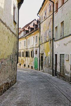 Alte Straße in Ljubljana, Slowenien von Yvonne Smits