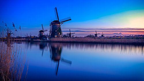 Blue Hour Kinderdijk