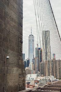One World Trade Center en een beveiligingscamera