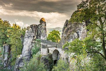 De Bastei in Saksisch Zwitserland van ManfredFotos