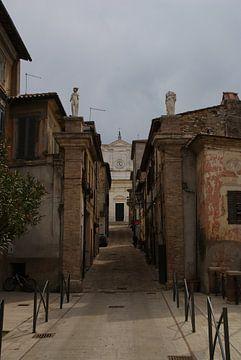Straat in Roccantica van Jan Nuboer