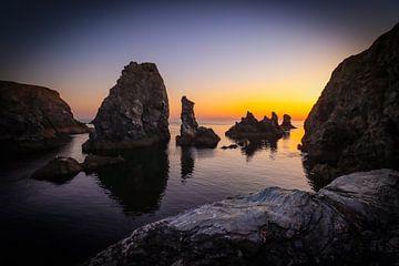 Port Coton à Belle-Ile-en-Mer au coucher du soleil