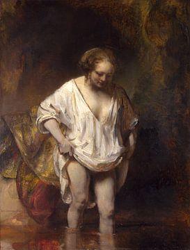 Badende vrouw, Rembrandt van Rijn sur
