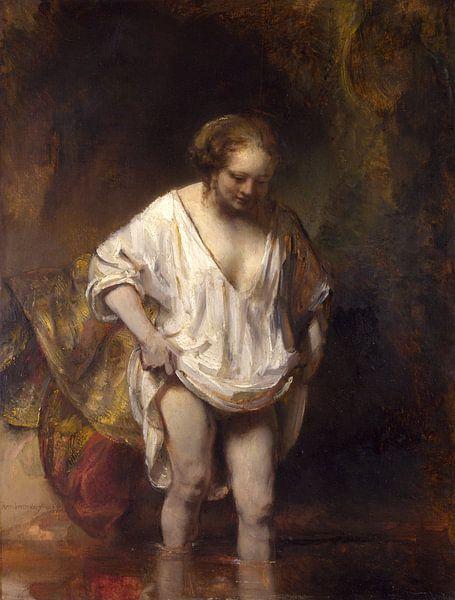 Badende Frau, Rembrandt van Rijn von 1000 Schilderijen