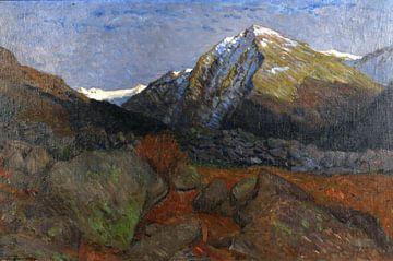 Bergkuppe im Engadin, FRITZ OVERBECK, Ca. 1909 von Atelier Liesjes