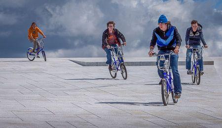 Radfahrer in Oslo