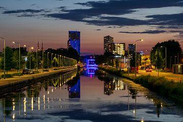Eindhovensch Kanaal uitzicht naar centrum Eindhoven van Noud de Greef