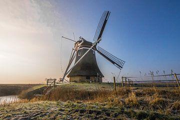 Molen in Marrum - Friesland (Fryslan) van Tieme Snijders