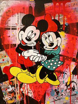Mickey und Minnie Mouse Vintage. von Kathleen Artist Fine Art
