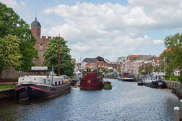 Boten in het kanaal van Zwolle von Peter Apers