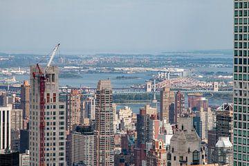 Die Stadt New York aus der Höhe eines Wolkenkratzers von Studio de Waay