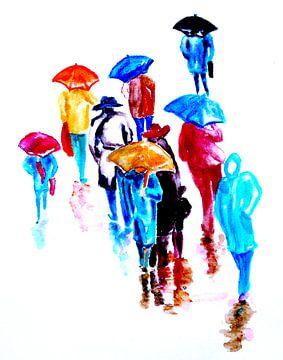 Rainy Day van Eberhard Schmidt-Dranske