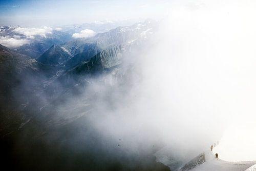 Wandelaars op de Mont Blanc in Frankrijk van Rosanne Langenberg