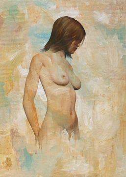 Erotisch naakt - naakt vastgehouden door gedachten van Jan Keteleer