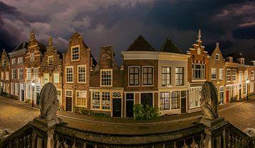 Panorama Dordrecht Nederland van Peter Bolman