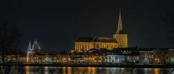 Bovenkerk en Koornmarktspoort Kampen van Truus Koster