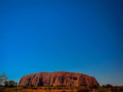 Ayers Rock oder Uluru, der heilige Felsen der Aborigines von Rietje Bulthuis