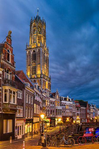 Utrecht - Blauw uur Vismarkt van
