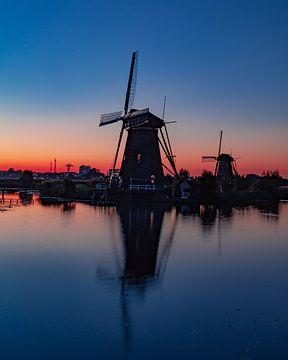 Windmühle in Kinderdijk von Björn van den Berg