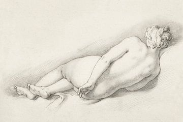 Studie eines liegenden weiblichen Aktes, Abraham Bloemaert, (1645 - 1651) von Atelier Liesjes
