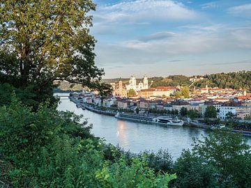 Uitzicht op de skyline van Passau van Animaflora PicsStock
