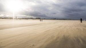 Zandstorm op Katwijkse strand