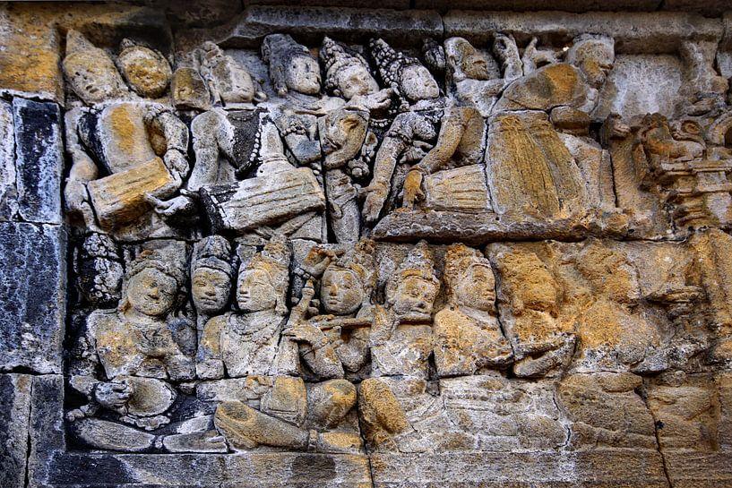 Borobudur détail 3 sur Henk Langerak