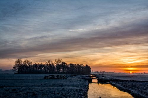 Zon boven de polder horizon