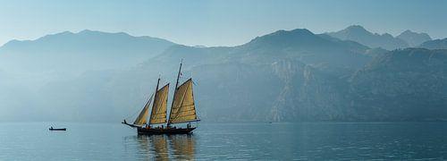 Sailingship at lake Garda, Malcesine, Italy