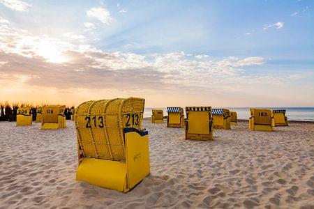 Beach at the North Sea in Cuxhaven van Werner Dieterich