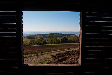 Fenster zur Berglandschaft Thüringens von Suzanne Schoepe