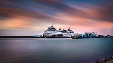 Ferry TESO au coucher du soleil sur Texel eXperience