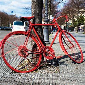 Rotes Fahrrad von Frank Herrmann