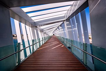 Brug over het kanaal van Dubai van Rene Siebring