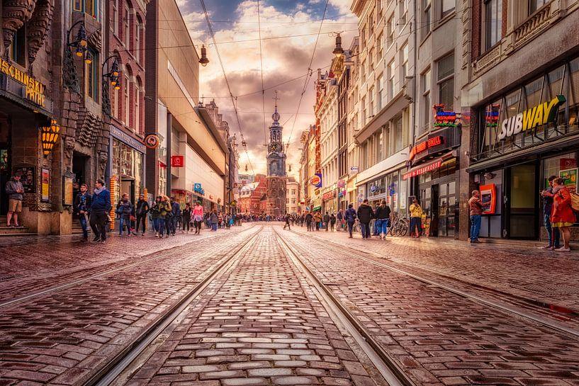 Regelmäßige Bruststraße Amsterdam von Dennisart Fotografie