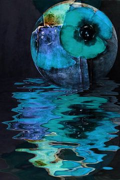 Opium poppy  -  Blue Poppy van Christine Nöhmeier