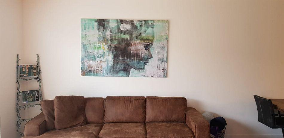 Klantfoto: Angie green van Atelier Paint-Ing, op canvas