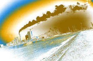Smog en vervuiling in de havens van