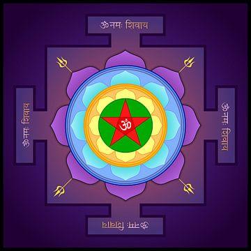 Maha Mrityunjaya Yantra. Tantrisches Symbol für den Sieg über die Mächte des Bösen und des Todes. von Paul Evdokimov