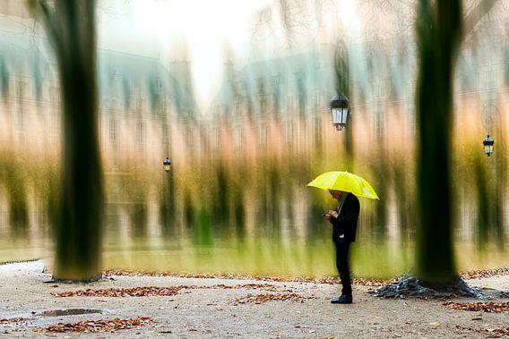 Alleen in de regen