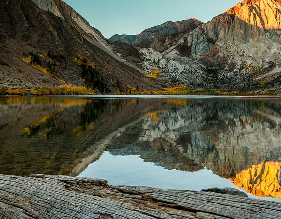 Convict Lake zonsopkomst Sierra Nevada California van Marja Spiering